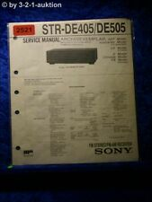 Sony Service Manual STR DE405 / DE505 Receiver (#2521)