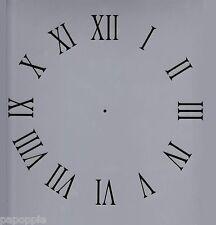 """Clock Stencil Roman Numerals 11"""" by 11"""" Free Ship!"""