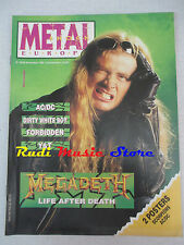 rivista METAL SHOCK 83-84/1990  Megaceth AC/DC Forbidden Dirty White Boy  No cd