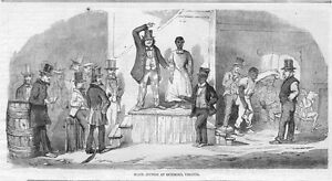 HISTORY SLAVE AUCTION IN RICHMOND VIRGINIA SLAVES WAITING FOR SALE 1856 NEGRO