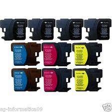 10 CARTUCCE COMPATIBILI PER STAMPANTE BROTHER DCP 197C DCP 365CN DCP 375CW