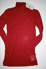 Noa Noa Rollkragen Shirt Langarm L´Ess Cotton Jersey Twany Red  size: L  Neu