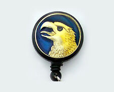 EAGLE Retractable ID Badge Card Reel Holder/Key chain /Security Ring