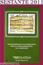 TESSERA FILATELICA FRANCOBOLLO GIUBILEO TABULA PEUTINGERIANA 1999 B47