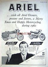 1959 Ariel 250cc 'Leader' & 'Arrow' Motor Cycles ADVERT (487j) Original Print Ad