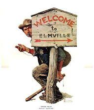 Norman Rockwell Elmville Policeman Print SPEED TRAP