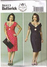 Butterick USA Sewing Pattern B 6413 A5 Ladies Gertie Rockabella Dress 32-40