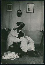 dd Lesbian Mistress punishment nude butt woman original c1910s photo postcard