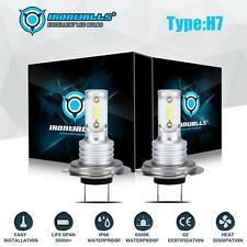 H7 LED Headlight Bulbs Conversion Kit CSP High Low Beam 55W 8000LM 6000K White