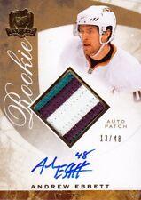 08-09 The Cup RAINBOW PATCH AUTO ROOKIE xx/48 Made! Andrew EBBETT #79 - Ducks