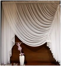 VOILE NET CURTAINS SHORT LONG VARIOUS SIZES LUXURY FINISHED AMAZING FOR U