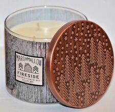 Bath & Body Works Marshmallow Fireside Scented 3 WICK Candle 14.5 oz NEW