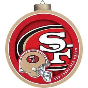 San Francisco 49ers 3D Logo Series Ornament 810008499078