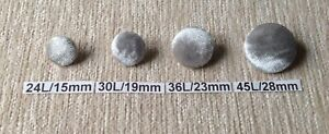 Fashion Fabric Silver Grey Crushed Velvet Loop Back Upholstery Buttons Glitz