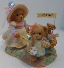 CHERISHED TEDDIES  ANNELIESE & ELISA - Girl Pushing Wheelbarrow - 2006 -Retired