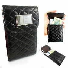 New Brown Leather Business Card Holder Id Credit Case Wallet Pocket Bag Pouch