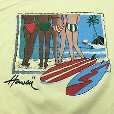 VTG 80s HAWAII Beach BIKINI Babe M Scenic SURF T Shirt Surfer SKATEBOARD