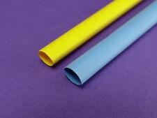 Schrumpfschlauch 1,6mm  Blau und Gelb PolyOlefin
