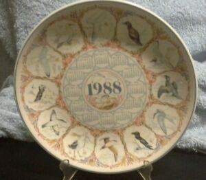 Wedgwood of Etruria & Barlaston - 1988 Seabirds Calendar Plate B3LB