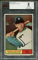 1961 topps #13 CHUCK COTTIER detroit tigers BGS BVG 8