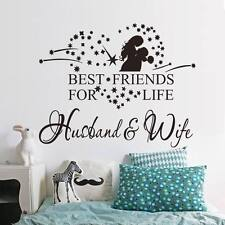 Words Quote Best Friends for Life Decor Wall Sticker Decal For Couple Bedroom