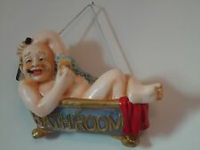 Funny 'Man in a Bath' Bathroom Plaque -To hang on door or wall - decorative Sign