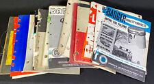 Lot 20 Assorted Vintage 1960's Auto Parts Dealer Catalogs Exhaust Carbs & More