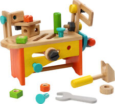 VOILA TOY wooden toy DIY TOOLS + TOOL BOX KID'S CARPENTER PLAY pretend play *NEW