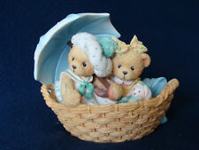 Cherished Teddies - Beth & Blossom - Bears With Umbrella Figurine - 950564 -1991