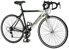 700c Schwinn Men Axios Drop Bar Road Bicycle, Silver/Black/Green, 21.5Inch Frame