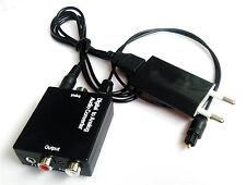 Digital Optical Toslink SPDIF Coax to Analog L/R RCA Audio Converter 3.5 Adapter
