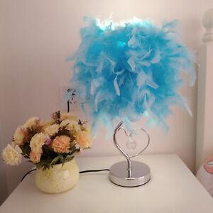 LED Feather Table Lamp Desk Night Light Home Room Bedside Decor 110V-220V