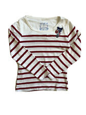 NWT Girls Long Sleeve Top Pumpkin Patch Red Stripe 6