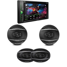 """New listing Pioneer 6.2"""" Multimedia Dvd Receiver with Bluetooth 6.5"""" 3-Way and 6x9 Speakers"""