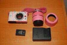 VERY RARE Nikon 1 J1 Digital Camera Pink w/ Pink VR 30-110mm lens