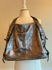 BODEN Women's Pewter Metallic Handbag Purse Satchel. Excellent Used Condition.
