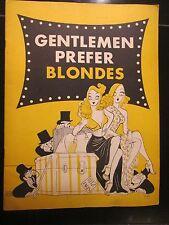 Gentlemen Prefer Blondes 1950's Original Theater Program Press Book