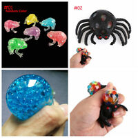 Gel Bead Filled Transparent Frog AntiStress Ball Kid Autism Squeeze Sensory Toy'