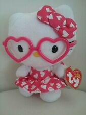 Hello Kitty Plush, Heart Dress, Bow and Glasses 2014 ty