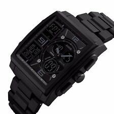 US Mens Digital Quartz Waterproof Analog LED Sports Silicone Wrist Watch Causal