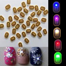 Women NFC Nail Art Tips DIY Stickers Phone LED Light Flash Party Decor Nail Tips