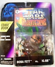 STAR WARS - BOBA FEET vs IG-88 + Comic Book -NEW de 1996 - Shadows of the Empire