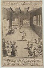 KOBOLD Hausgeist kleiner Original Kupferstich um 1750 Naturgeist GEIST Alben