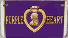 Aluminum Motorcycle License Plate Military Purple Heart NEW Wheelchair Golf Cart