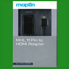 MHL 11 Pin MicroUSB to HDMI Adapter Ex-Maplin