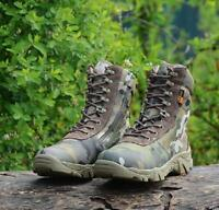 Men Military Combat High Top Shoes Camo Ankle Boots Outdoor Chic Lace Up  New 18