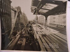 ORIG 1915 New York City NYC 8 x 10 El Subway 2 Av & 42 St Harlem Street Photo