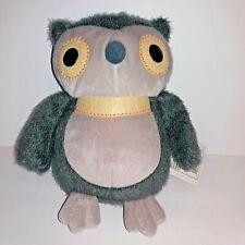 "Kohls Cares Hooty Owl Plush Aesop's Fables Stuffed Animal Gray 10"""