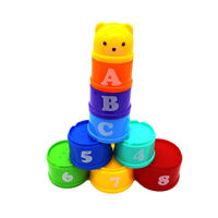 Baby Kids 9 Stack Up Cups Toy Set Perfect for Gift Bath Toys 6 Months Stacking