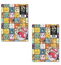 Pokemon Envoltura De Regalo Papel Envoltorio Etiquetas 2x hojas de x2 Paquete Doble